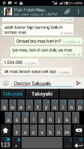 Testimoni Mitra daddys takoyaki Pak Febri (Riau) 2