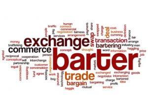 barter promote antar sosial media