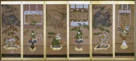 lukisan ikebana